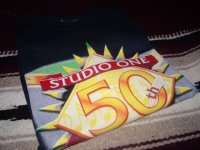 STUDIO ONE 50th ANNIVERSARY OFFICIAL T-SHIRTS/ NAVY /(XL)
