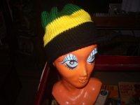 IMPORT JAMAICA COLOR KNIT CAP/ FREE/