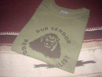 DUB VENDOR OFFICIAL T-SHIRTS / KHAKI GREEN / (L)