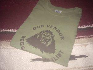 画像1: DUB VENDOR OFFICIAL T-SHIRTS / KHAKI GREEN / (L)