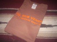 DUB VENDOR OFFCIAL T-SHIRTS / BROWN / BURNT ORANGE / ( S )