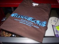 CHANNEL ONE logo/OFFICIAL/BROWN/(M)BLUE