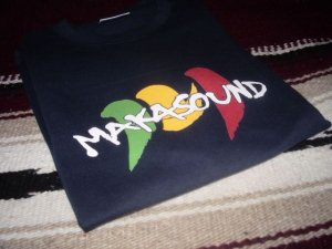 画像1: MAKASOUND OFFICIAL T-SHIRTS/NAVY/(M)