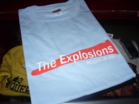THE EXPLOSIONS-OFFICIAL T-SHIRTS/SAXE BLUE/(M)