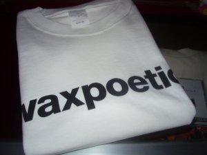 画像1: WAXPOETICS OFFCIAL LOGO T-SHIRTS/WHITE/(S)