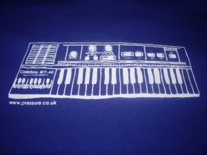 画像1: CASIOTONE MT-40 PRESSURE SOUNDS OFFCIAL T-SHIRTS/BLUE/(XL)
