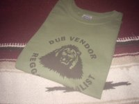 DUB VENDOR OFFICIAL T-SHIRTS / KHAKI GREEN / (L)