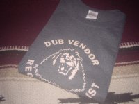 DUB VENDOR OFFICIAL T-SHIRTS /CHARCOAL CREAM / (L)