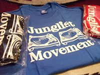 JUNGLIST MOVEMENT OFFICIAL T-SHIRTS / BLUE / XL /