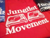 JUNGLIST MOVEMENT OFFICIAL T-SHIRTS / RED / XL /