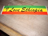 I LOVE ETHIOPIA/ STICKER