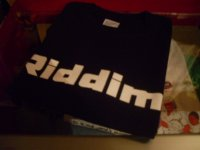 RIDDIM OFFICIAL T-SHIRTS/BLACK/(S)